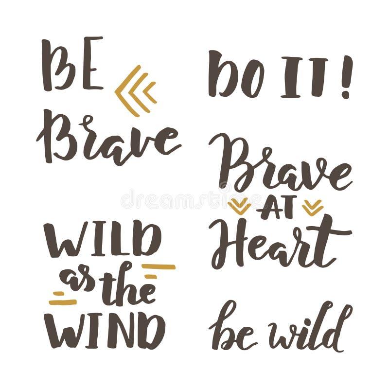 Letras valientes y salvajes libre illustration