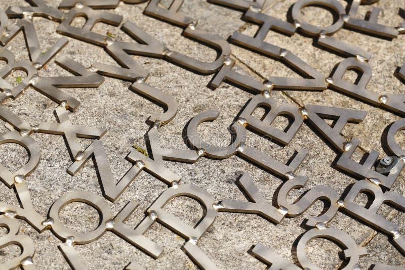 Letras velhas do metal imagem de stock royalty free