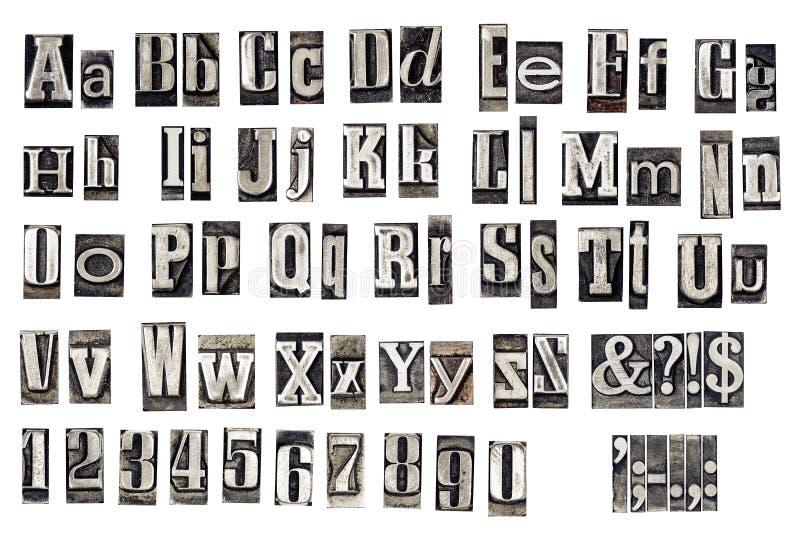 letras velhas do metal imagens de stock royalty free
