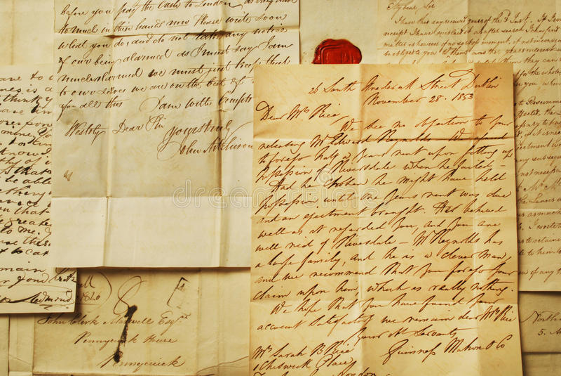 Letras velhas, escrita elegante imagem de stock