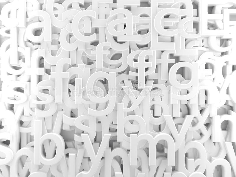 Alfabeto blanco ilustración del vector