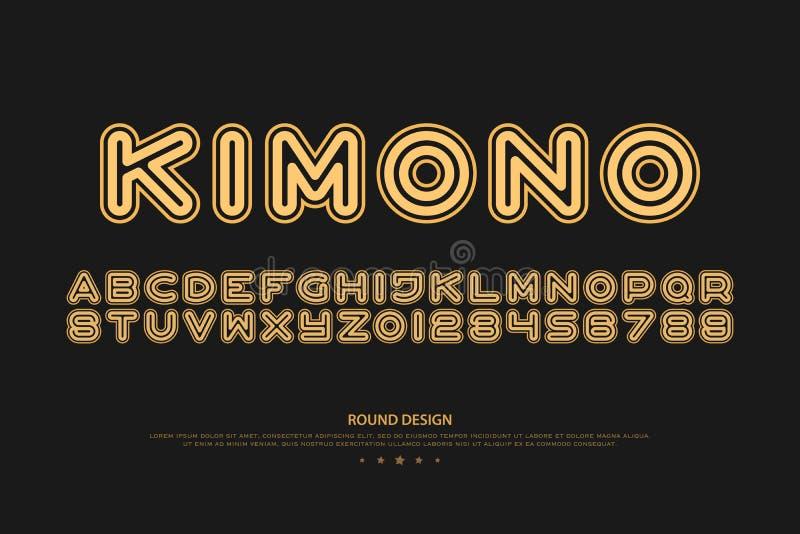 Letras y números del alfabeto del estilo de sans serif vector, fuente libre illustration