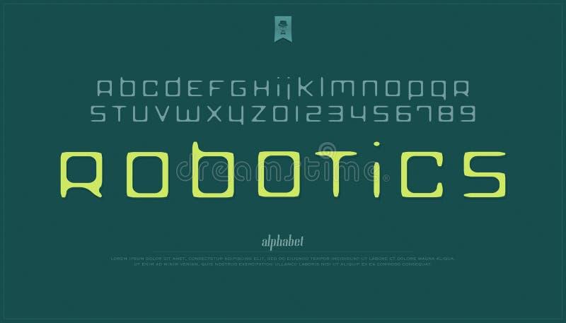 Letras y números Handcrafted del alfabeto del estilo vector, tipo dibujado mano de la fuente stock de ilustración