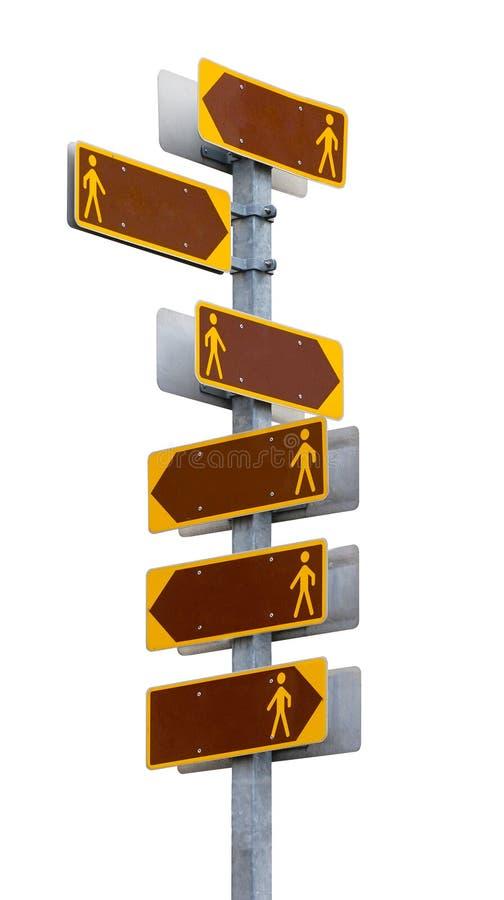 Letreiro Multidirectional com as placas vazias do sentido. foto de stock royalty free