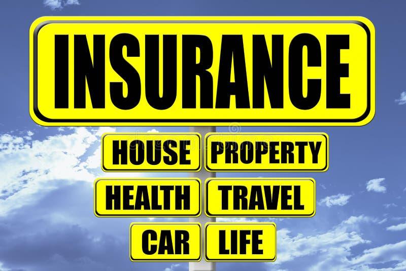 Letrero amarillo con el seguro de la palabra escrito libre illustration