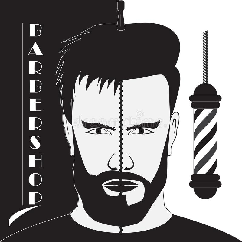 Letrero Barber Shop libre illustration