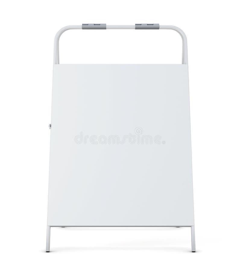 Letrero de la acera en el fondo blanco representación 3d libre illustration