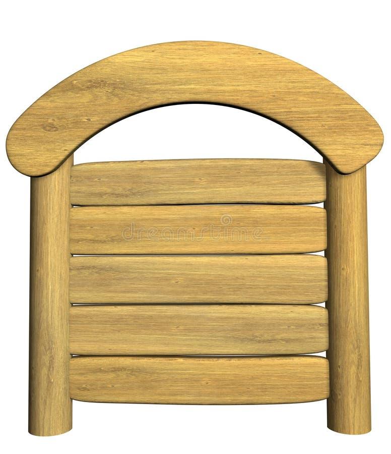 letrero de madera 3d fotografía de archivo libre de regalías