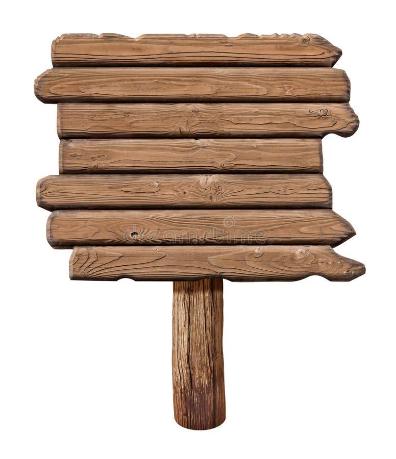 Letrero de madera Vieja señal de tráfico hecha de la madera fotos de archivo libres de regalías