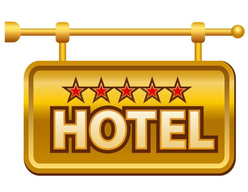 Letrero del hotel stock de ilustración