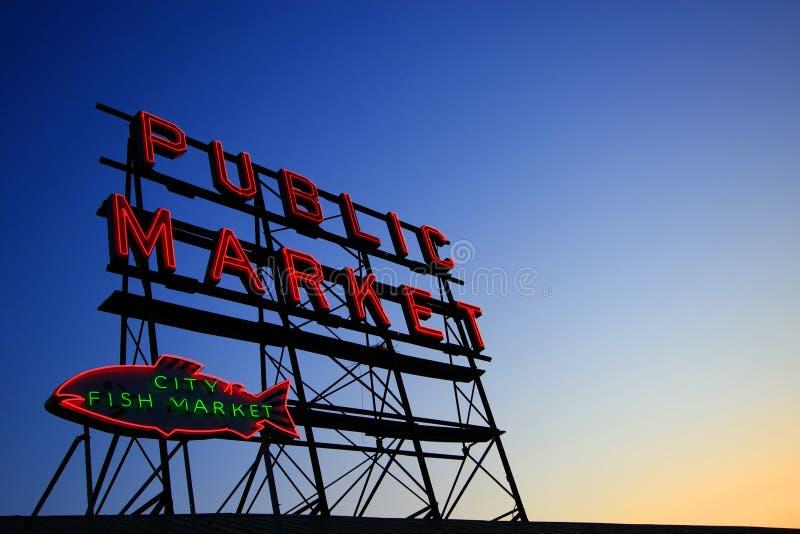 Letrero del mercado público fotos de archivo libres de regalías