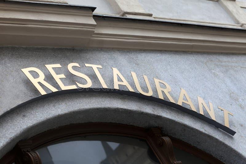 Download Letrero del restaurante foto de archivo. Imagen de retro - 41907444