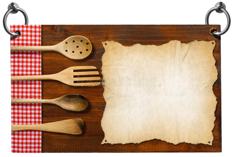 Letrero del restaurante con la trayectoria de recortes stock de ilustración