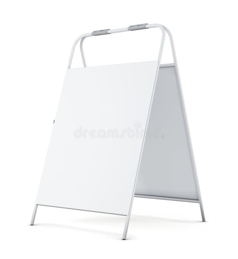 Letrero en blanco en el fondo blanco representación 3d libre illustration