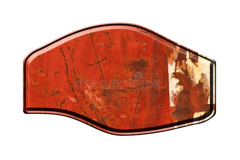 Letrero viejo del metal ilustración del vector