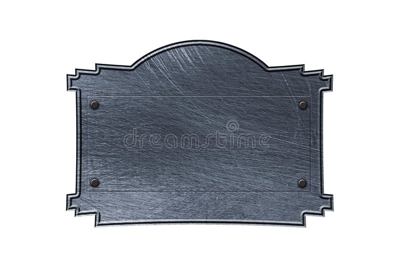 Letrero viejo del metal stock de ilustración