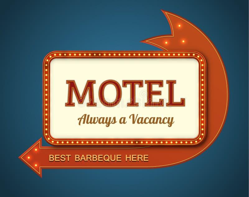 Letrero viejo del motel libre illustration