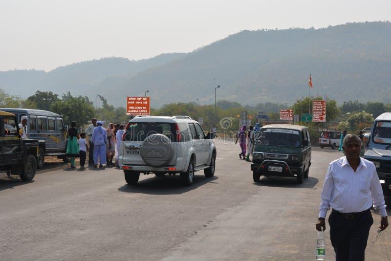 Lets gehen zu Ajanta, Indien lizenzfreies stockfoto