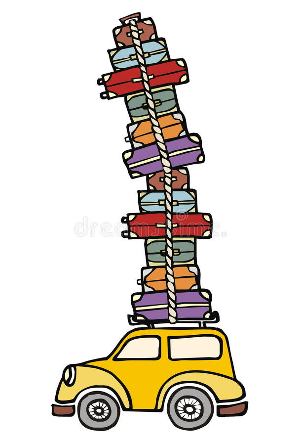 Lets Go For Fun: A Car Ready For Vacations. Stock Photography