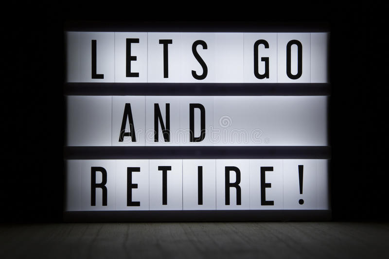 Download Lets go and retire stock image. Image of lifestyle, retired - 94185699