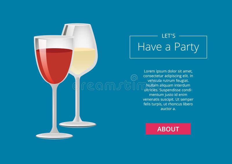 Lets ha un manifesto Choice di pubblicità delle bevande del partito illustrazione di stock