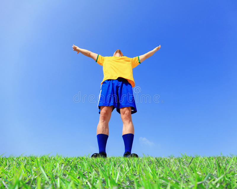 Lets play soccer now stock image