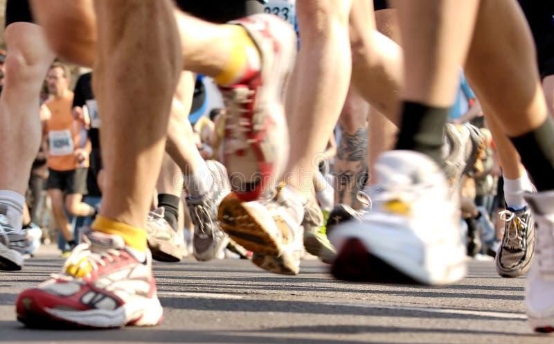 Lets run!. Some runners at the berlin half marathon
