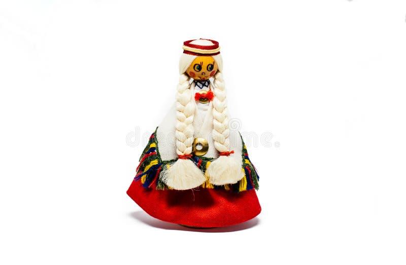 Lets Traditioneel Kostuum Houten Doll stock foto