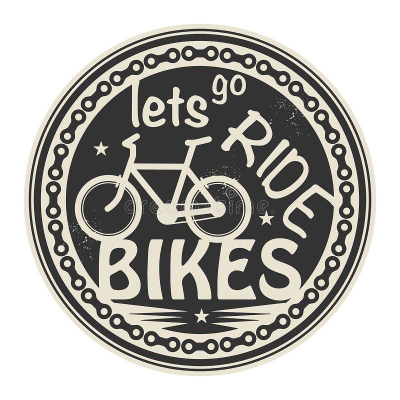 Lets vai bicicletas do passeio ilustração stock