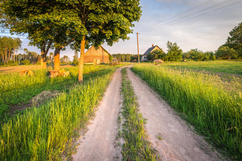 Letse boerderij Landelijk landschap royalty-vrije stock afbeelding