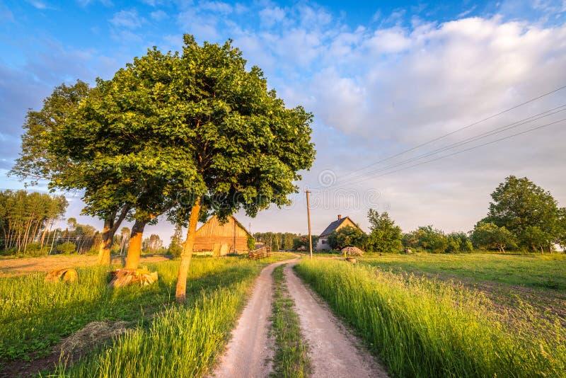 Letse boerderij Landelijk landschap royalty-vrije stock foto's