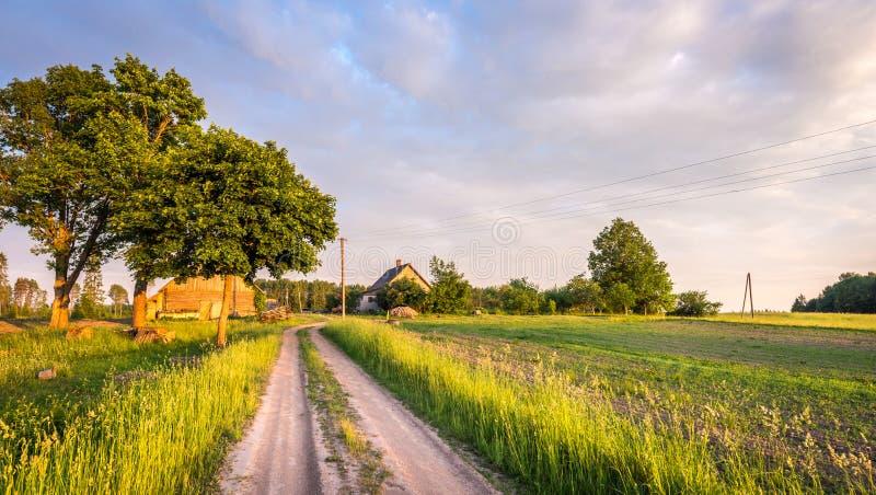 Letse boerderij Landelijk landschap stock foto's
