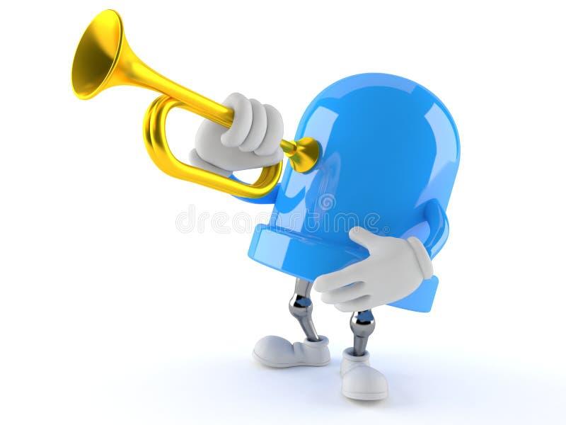 LETT tecken som spelar trumpeten vektor illustrationer