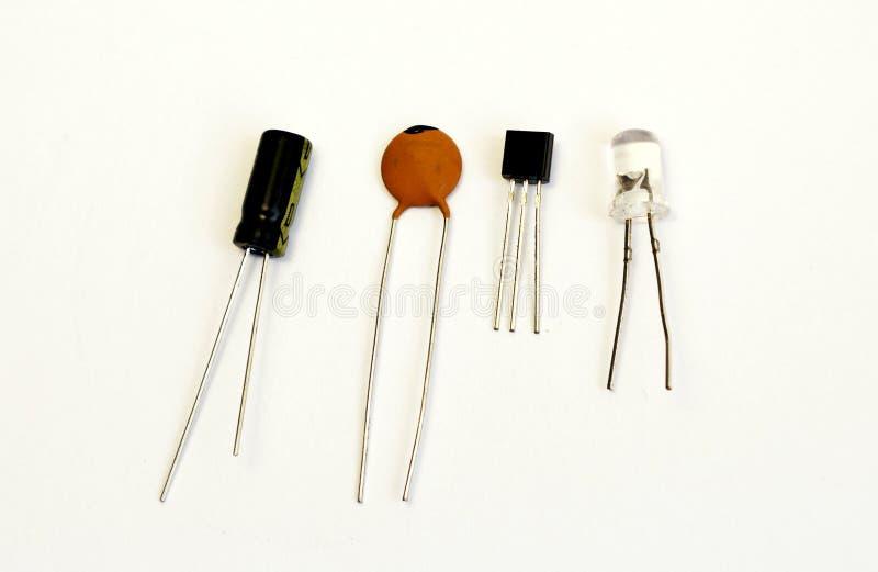 LETT transistor, kondensator, radiodel royaltyfri bild