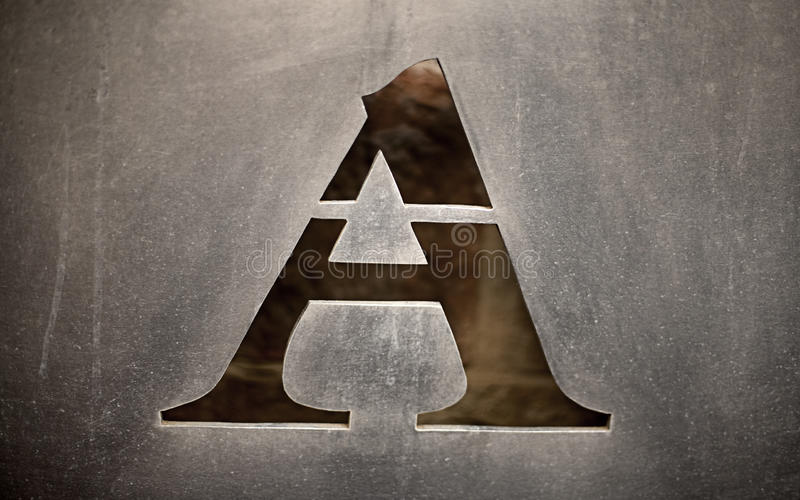 The letter A royalty free stock photos