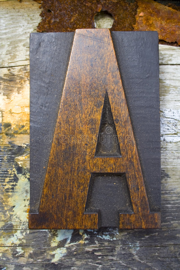 Letter A stock photo