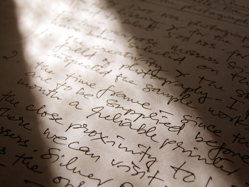 Download Letter stock image. Image of line, handwrite, chronicle - 4760207