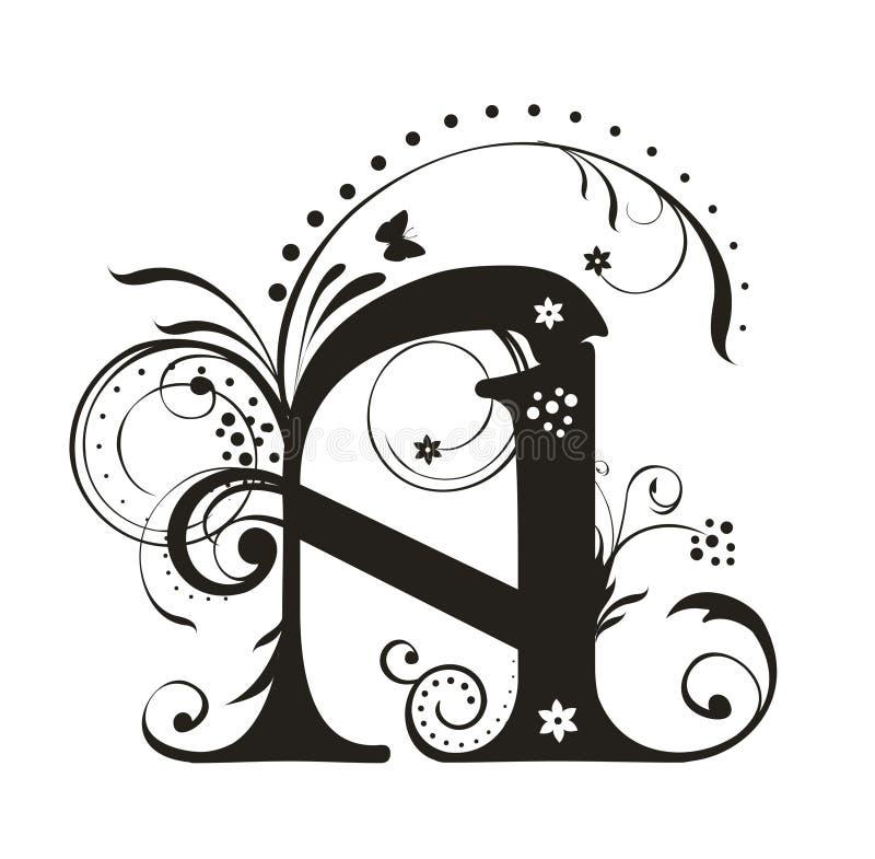 Letter A stock illustration