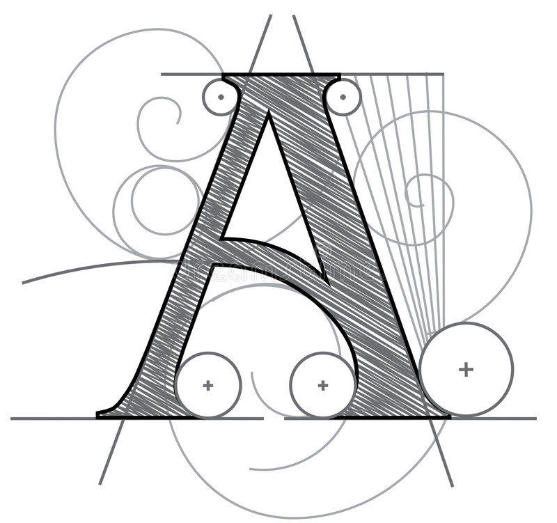 Letter A royalty free illustration