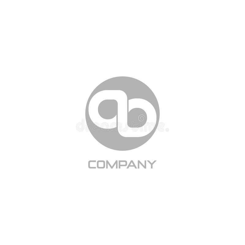 Letter AB or OL Company Logo Design Template, Alphabet Logo Concept, Monogram Logotype, Ambigram Style 库存例证