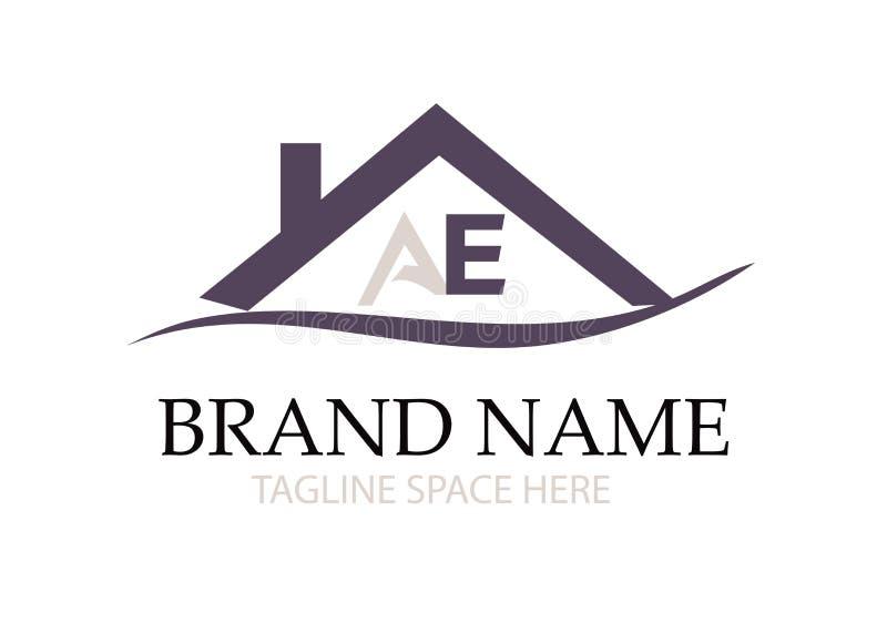Letter AE home logo design vector vector illustration