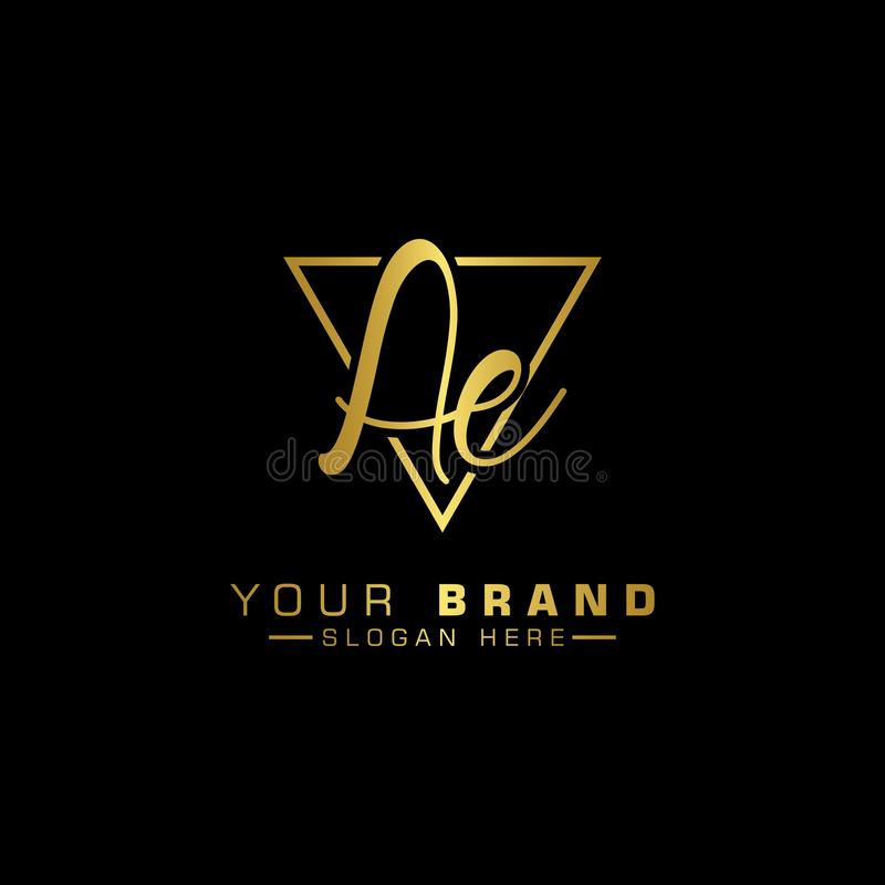 Letter Ae Logo. Initial Letter Design Vector Luxury Colo. You created this design with originals, I provide eps10 files. I hope you contribute what I give royalty free illustration