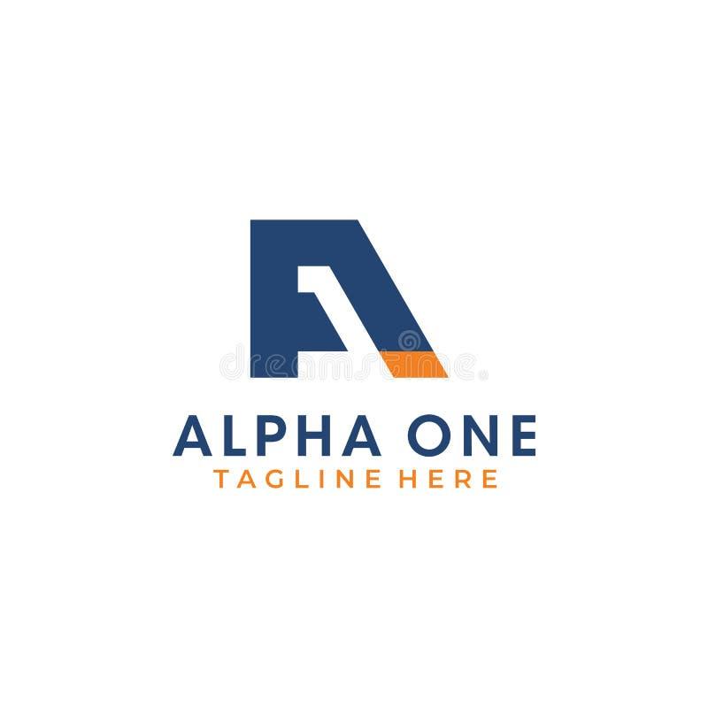A-1 Letter Alpha One. A-1 alphabet letter alpha one color logo vector royalty free illustration