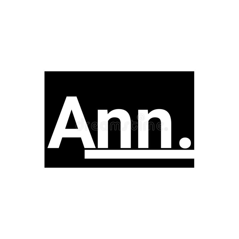 Letter ann. logo icon along with the business illustration template royalty free illustration