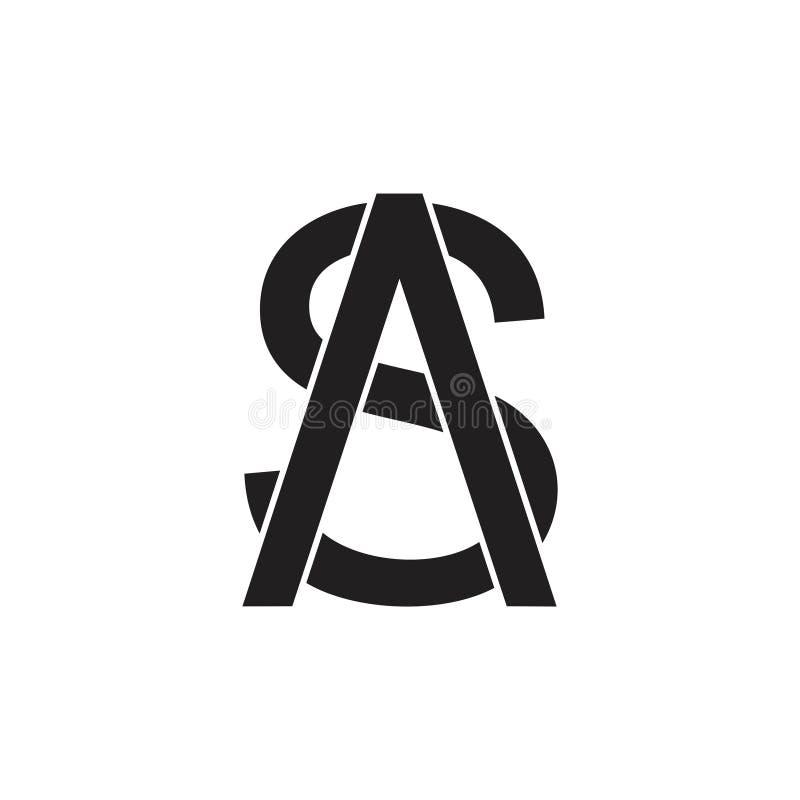 Letter as simple arrow logo vector stock illustration