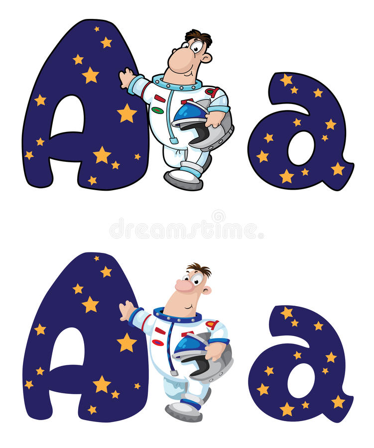 Letter A Astronaut Royalty Free Stock Images