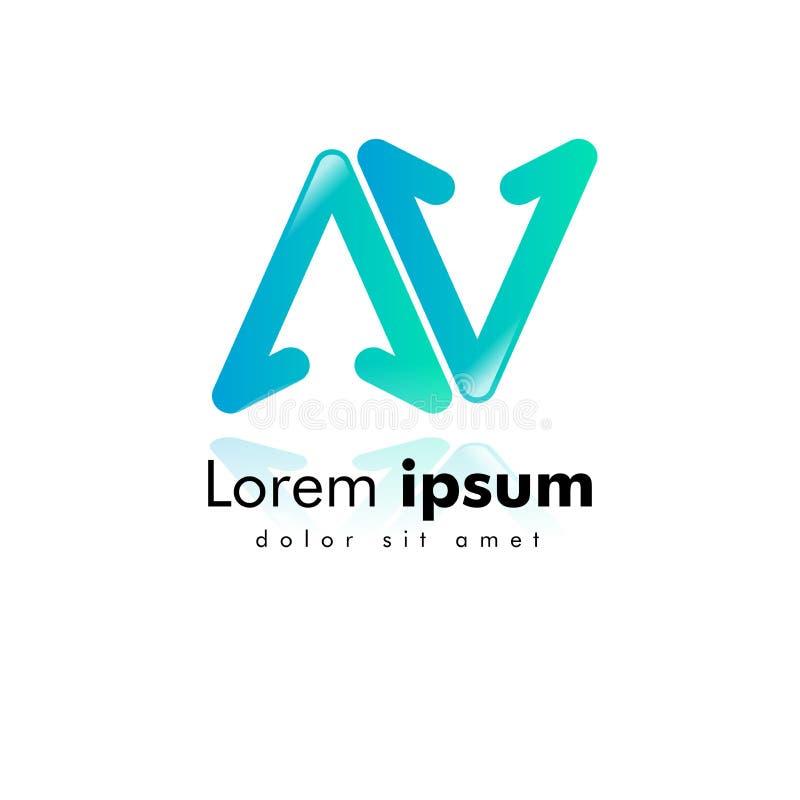 letter AV logo. arrow icon. minimal design concept. creative apps vector illustration vector illustration
