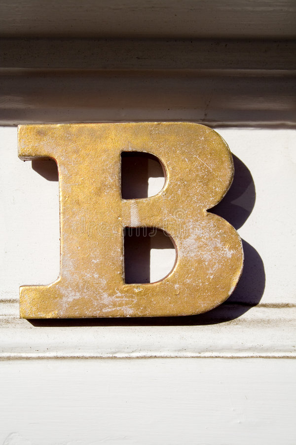 Letter B royalty free stock photos