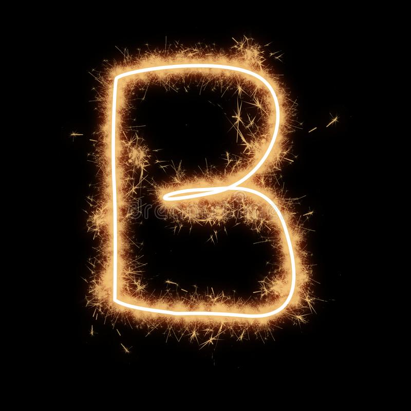 Letter B Of Alphabet On A Black Background Stock ...