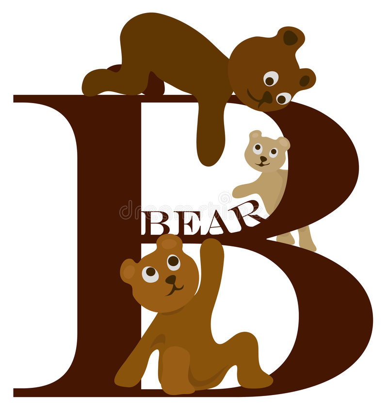 Letter B (bear) Stock Photos